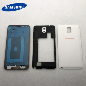 Image 2 - Samsung Galaxy Note 3 Için tam Konut Parçaları N900 N9005 N9006 Ön LCD Çerçeve arka kapak note3 Arka Pil Kapağı Orta çerçeve