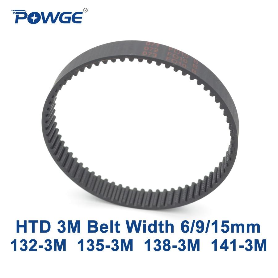 POWGE Arc HTD 3M Timing belt C= 132 135 138 141 width 6/9/15mm Teeth 44 35 46 47 HTD3M synchronous 132-3M 135-3M 138-3M 141-3M powge arc htd 3m timing belt c 264 267 270 273 width 6 9 15mm teeth 88 89 90 91 htd3m synchronous 264 3m 267 3m 270 3m 273 3m