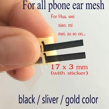 20pcs 17*3mm Adhesive Ear Speaker Earpiece Anti Dust Screen Mesh for huawei OPPO xiaomi Replacement for all phone ear mesh(China)