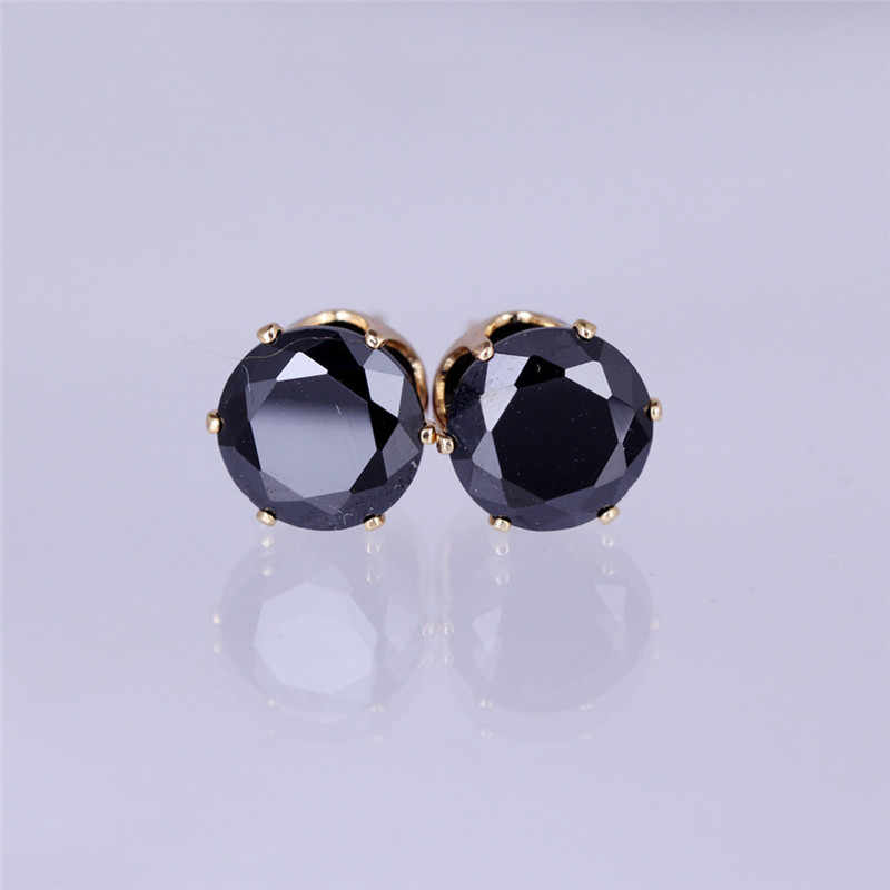 Luxury brand jewelry Austrian crystal earrings for women stud earrings for girls gift Two pairs of Gold / Silver