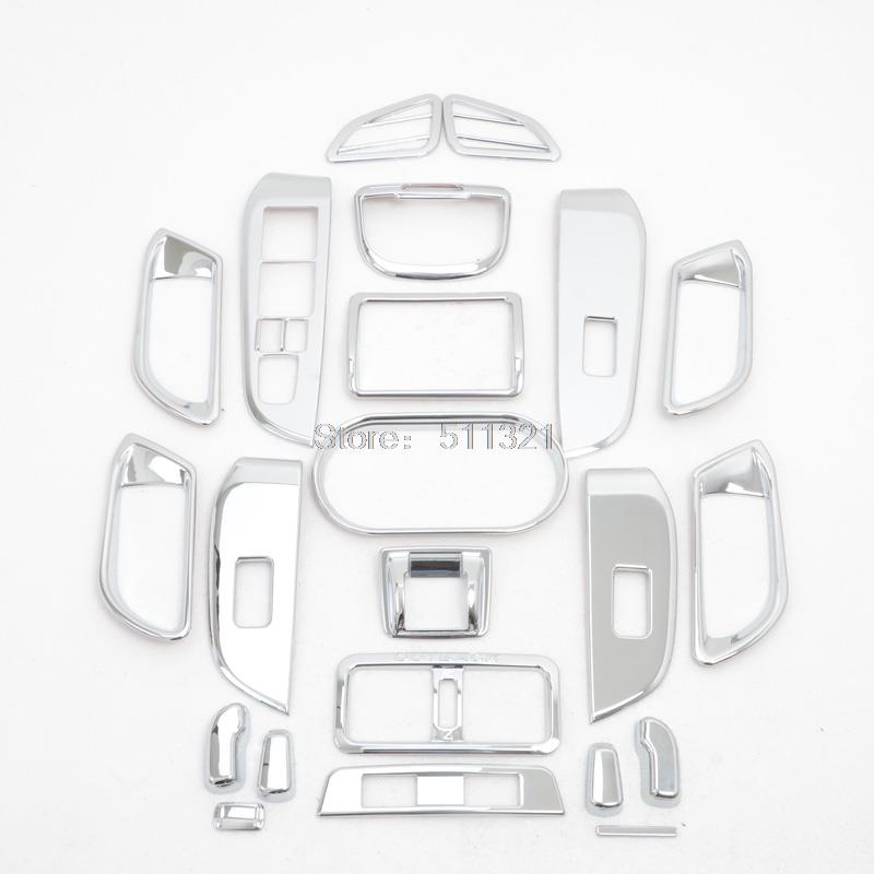 For Subaru Outback 2015 2016 Inner Air Condition Vent +Door Handle Armrest Frame Whole Auto Parts  For Left-handed Driving 21Pcs for toyota prado fj150 2014 2016 auto cover accessories interior door handle door armrest air outlet lamp frame covers 17pcs set