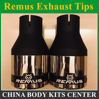1 Piece Universal 63mm Inlet 101mm Outlet 304 Stainless Steel Remus Car Exhaust Muffler Tip Modified Exhaust Pipes