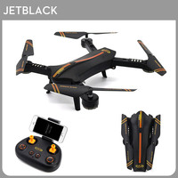 New Jetblack Mini Smart Foldable Selfie Drone With 720P HD Camera High Quality RC Helicopter Quadcopter