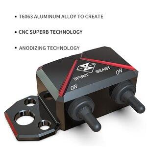 Image 4 - GEIST BEAST Motorrad Roller Schalter Control Box Lenker Scheinwerfer CNC Aluminium Legierung Gefahr Licht Wasserdichte Schalter Box
