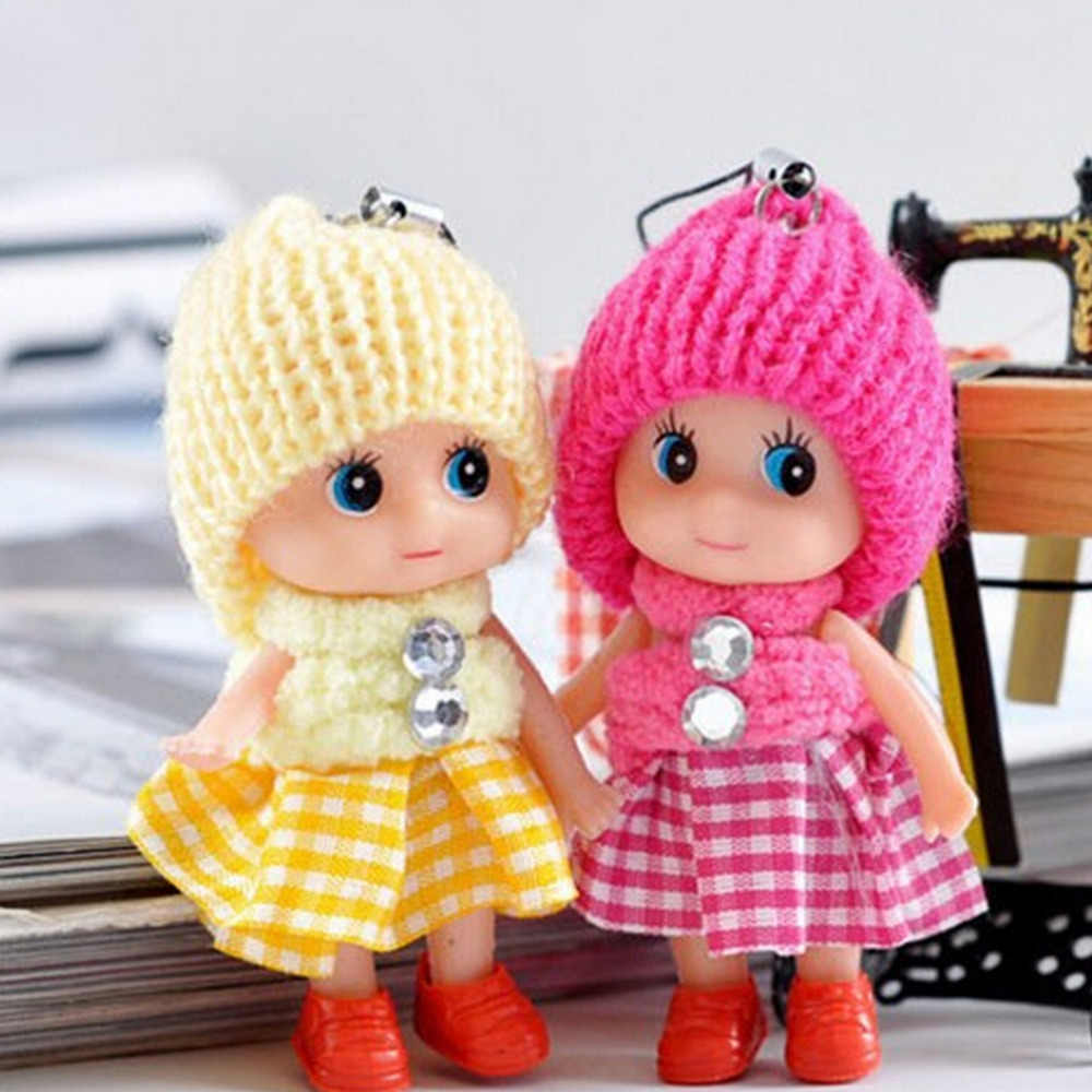 1Pc New Baby Kawaii Cartoon Mobile Phone Straps Cute Mini Dolls Pendant Cell phone Charm Lanyard