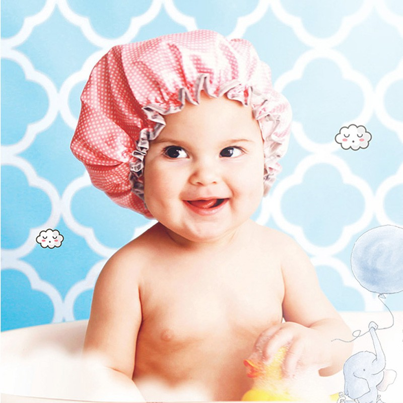 Baby Care Baby Shower Cap Baby Kids Elastic Bath Hat Protect Hair Wash Shield for Children Infant Waterproof Cap Baby Bathing