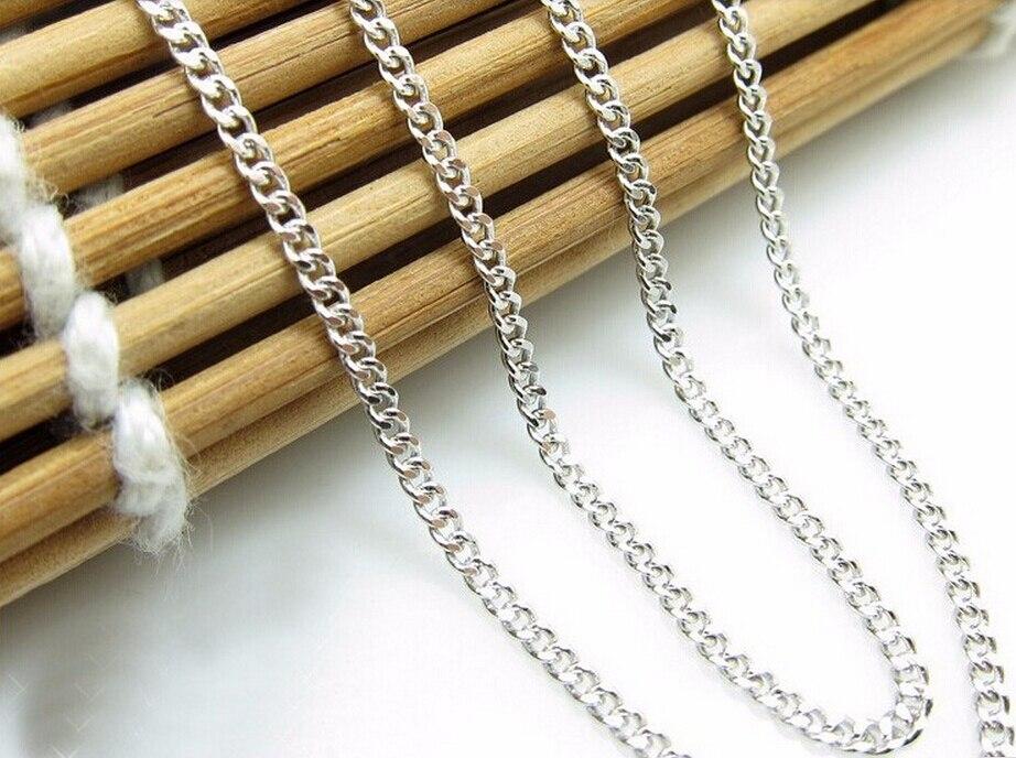 Offre spéciale mode italie design 17 pouces pur 925 en argent Sterling collier chaîne S925