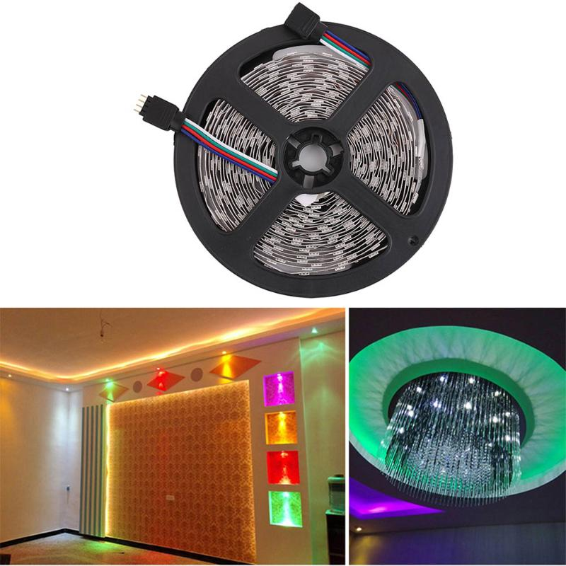 5m 5050SMD 300LED RGB Non-Waterproof Led Strip Light Christmas Party Home Desk Decoration With 44 Key Remote Control US/UK Plug