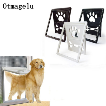 Controllable Lockable Plastic Pet Dog Cat Door for Screen Window Safety Flap Gates Pet Door Dog Fence Free Access Door for Home