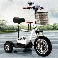 Электрический скутер citycoco литиевых Батарея водить автомобиль простая детская Стульчики детские 3 Круглый колеса мотоцикла для пожилых инв