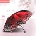 2016 новых Ewha зонтик марка 6-цветной УФ пляжный зонт сложенный взрослых кружева зонтик Солнечный зонтик дождь женщины бесплатная доставка