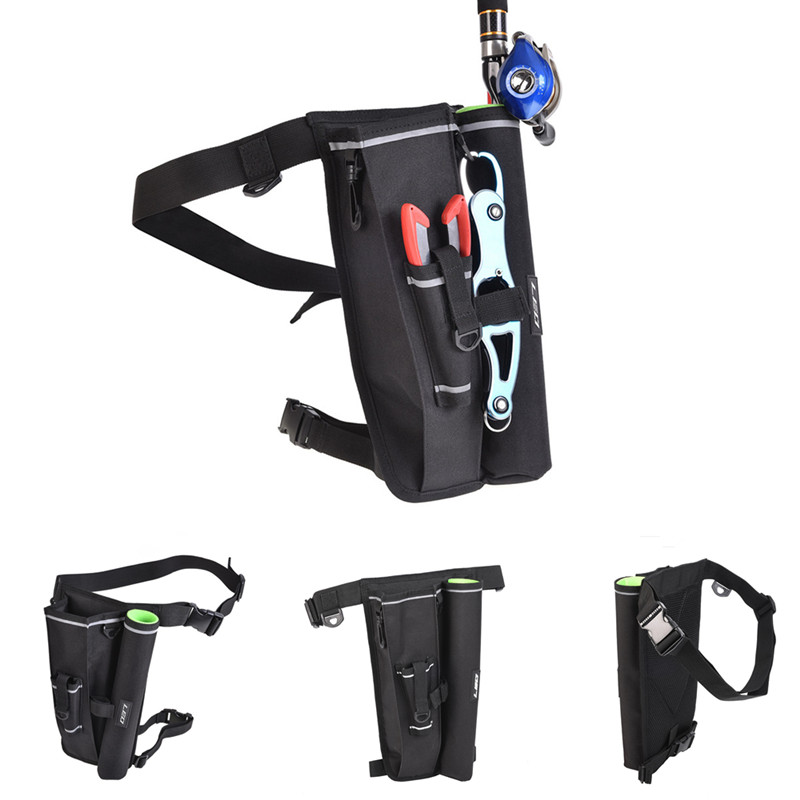 Fishing Waist Carry Bag Shoulder Leg Pack Lure Rod Tackle Pouch with Box