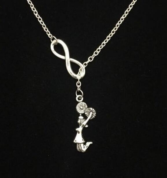 Silver cheer team charm Necklace earring pendants,women jewelry,birthday Gifts