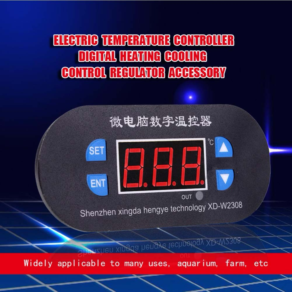 Electric Temperature Controller Digital Heating Cooling Control Regulator Accessory New