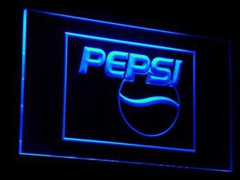 A023 بيبسي كولا الشعار شرب ديكور LED علامات بالإضاءة النيون مع على/قبالة التبديل 20 + الألوان 5 الأحجام لاختيار