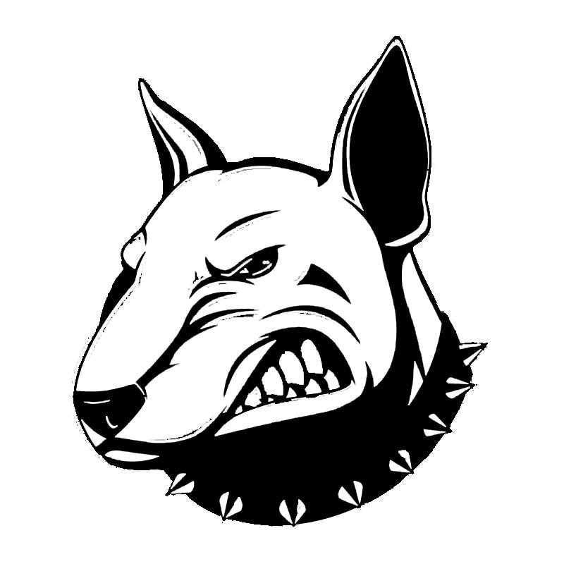 13 315 7cm Angry Bullterrier Dog Vinyl Decal Creative Animal