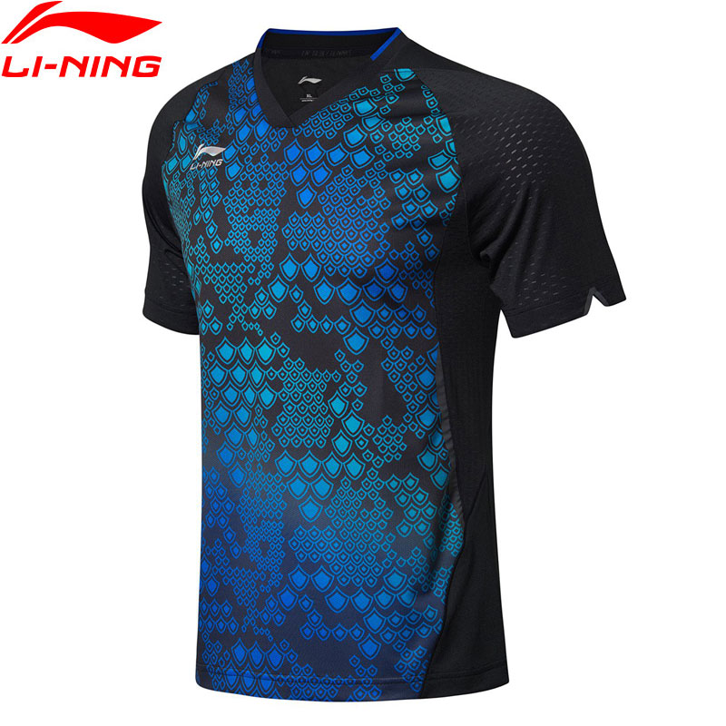Li-Ning Men Table Tennis T-shirts Breathable Comfort National Team Sponsor LiNing Competition Sports Tees Tops AAYN177 MTS2777(China)