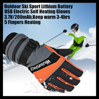 30pairs! 2000MAH USB Electric Heat Gloves, Ski Lithium Battery Self Heating,5 FingersHeating Thermostatic Warm 4hrs