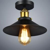 Loft Edison Vintage Ceiling Lamp Russia Nordic Retro Ceiling Lights Lustre Modern Luminaire Hanging Light Black