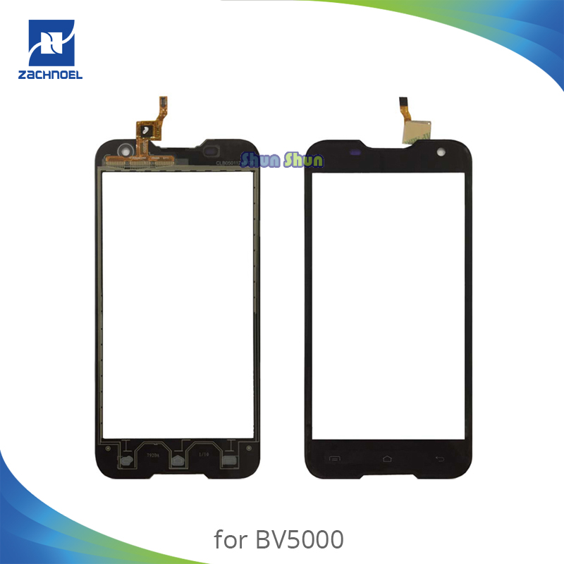5.0 ''Haute Qualité Écran pour Blackview BV5000 BV 5000 Écran Tactile Digitizer Capteur Avant Panneau de Verre Noir Pièces De Rechange