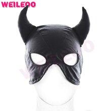 Рог форма секс маска раб bdsm секс-игрушки для семейных пар маска секс игрушки бдсм фетиш bondage mask эротические игрушки для взрослых игры