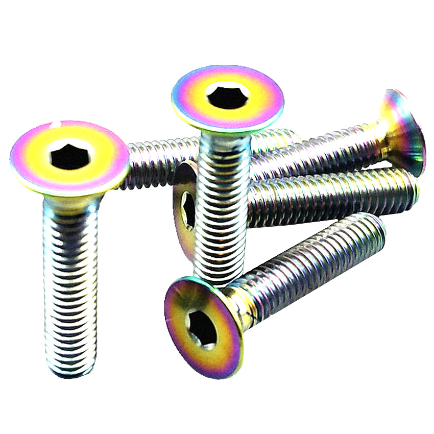 6pcs M4 x 6//8//10//15//20mm Titanium Half-round Umbrella Allen Wrench Bolts Screws