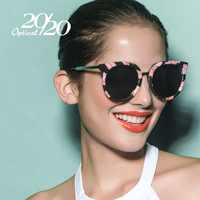 20 20 Vintage Sunglasses Women Brand Designer Retro Round Floral Polarized Sun Glasses Woman Glasses With