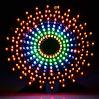 Ferris Wheel Model Music Spectrum DIY Kit Electronic 51 Single chip Colorful LED Flash Kit Module