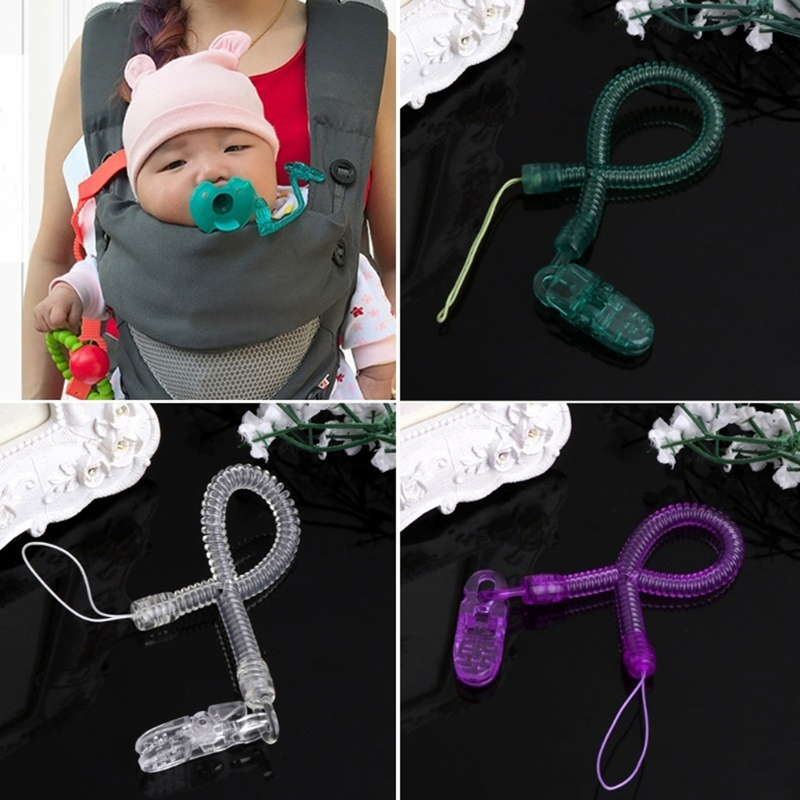 Baby Infant Feeding Dummy Pacifier Clip Extend Length Plasitc Nipples Baby Teething Soother Holder Strap Chain Baby Feeding Part
