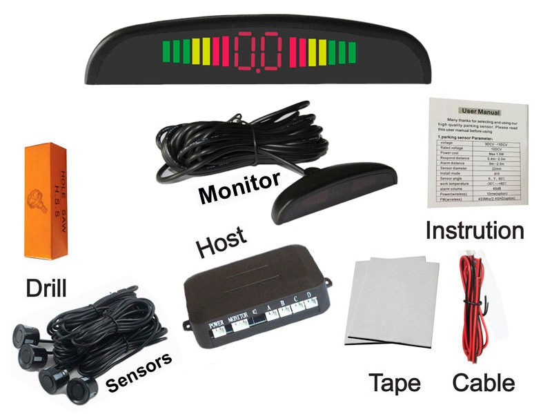1Set-Car-LED-Parking-Sensor-Kit-Display-4-Sensors-for-all-cars-Reverse-Assistance-Backup-Radar