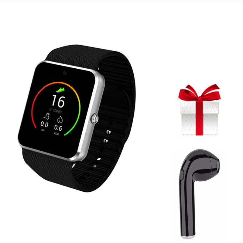 free earphone +QW08 Bluetooth Smart Watch Men reloj inteligente Wearable Devices for Android Phone VS A1 GT88 GT08 X6