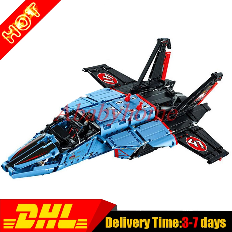 Presell LEPIN 20031 1151pcs new Technic Series The jet racing aircraft Model Building Kits Set Brick Toy Clone 42066 lepin 20031 technic the jet racing aircraft 42066 building blocks model toys for children compatible with lego gift set kids