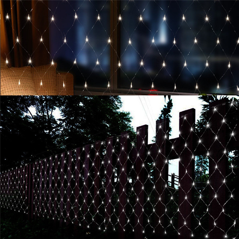 1.5mx1.5m 96LED Net Mesh Fairy Web String Light Twinkle Lamp Lighting Christmas Xmas Wedding Garland Party Decor 4 Color Choose
