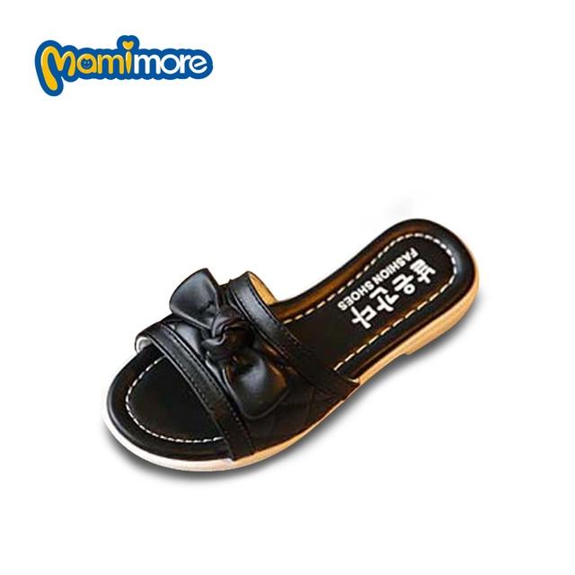 Mamimore 2017 Лето Открытым носком Обувь для Девочек Дети Тапочки Красочные Пляжная Обувь Мягкое Дно Детская Обувь Тапочки Chaussure Enfant