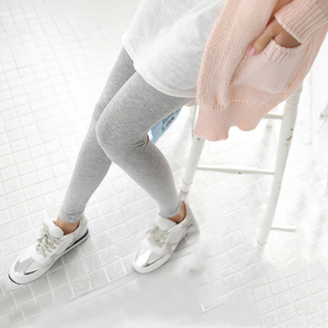 1PC Women Fashion Simple Solid Leggings Women Stretchy Cotton Skinny Leggings Sexy Colorful High Waist Legging Clothes Accessory 16