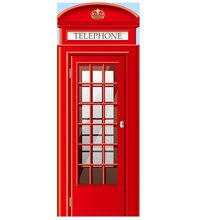 Telephone Booth Big Ben Tower Door Sticker Red Umbrella Double-decker Bus Red Car Door Stickers City Decal(China)