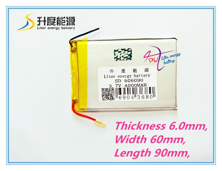 No Plate Liter Energy Battery 3.7V Original Dual Engine N70HD 606090 Built-in Battery 4000mAh Tablet Battery