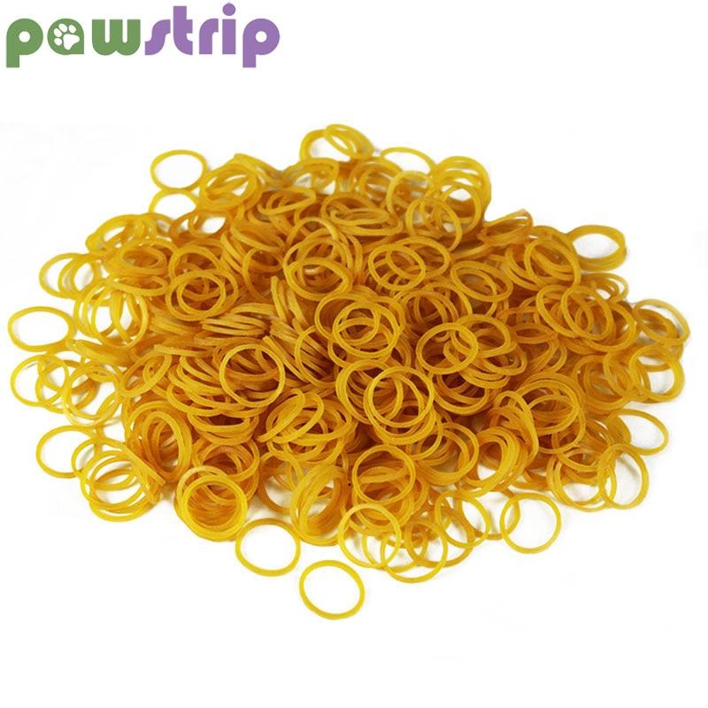 Pawstrip 200pcs/lot Pet Accessories Small Dog Rubber Bands Diameter 15mm Pet Dog Hair Bands