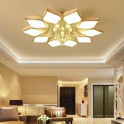 Biały akrylowy nowoczesny żyrandol LED do sypialni salon oświetlenie LED do pokoju nabłyszczania duży żyrandol oświetlenie sufitowe oprawy AC85 260V w Żyrandole od Lampy i oświetlenie na