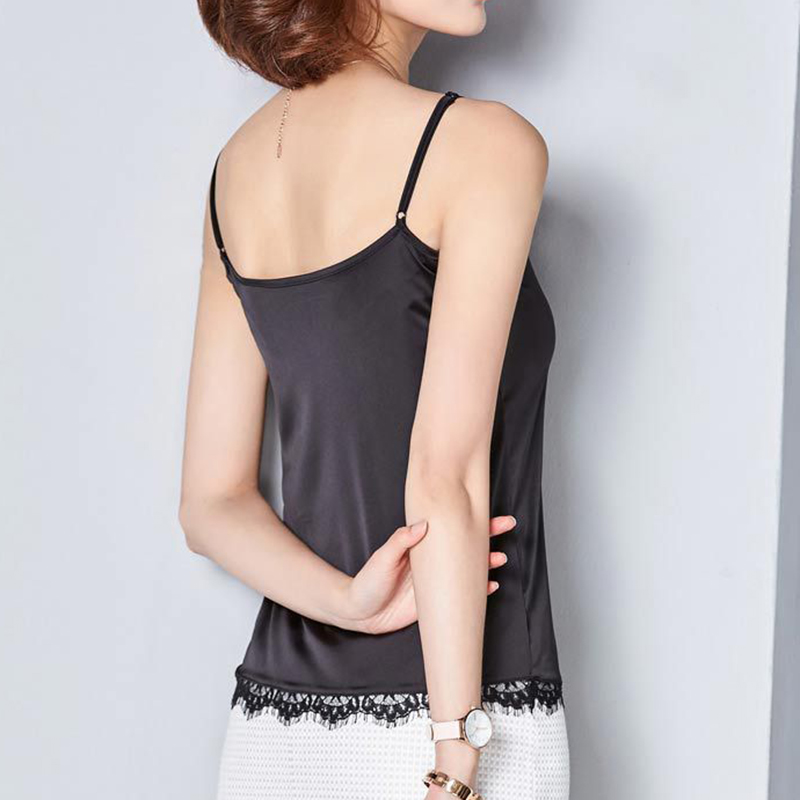 Sommer Kvinder Simplee Satin Camisole Tank Casual Camis Toppe Sexy - Dametøj - Foto 3