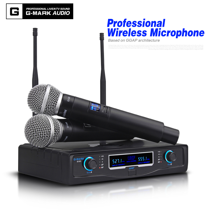 G-MARK Microfono Senza Fili MICROFONO Dinamico Abbinato Pairs Palmare microfoni Karaoke stage 50 metri ricevereG-MARK Microfono Senza Fili MICROFONO Dinamico Abbinato Pairs Palmare microfoni Karaoke stage 50 metri ricevere