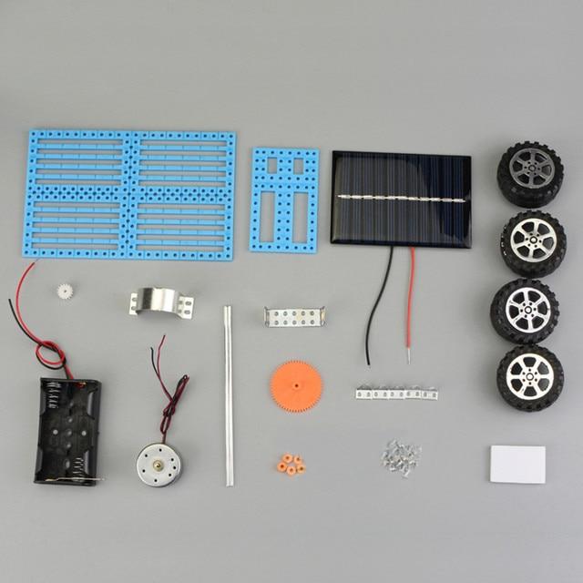Educational Solar Car Powered by the Sun+Battery Double power Solar Powered Toys Car Kit Educational Science toys for boys 3