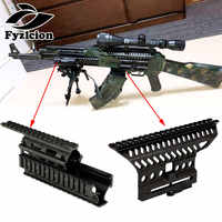 Tactical AK47 74 AKs Quad Rails Handguard Rail+AK Side Optic Mount Scope Rail Base Quick Detach Picatinny Mounting