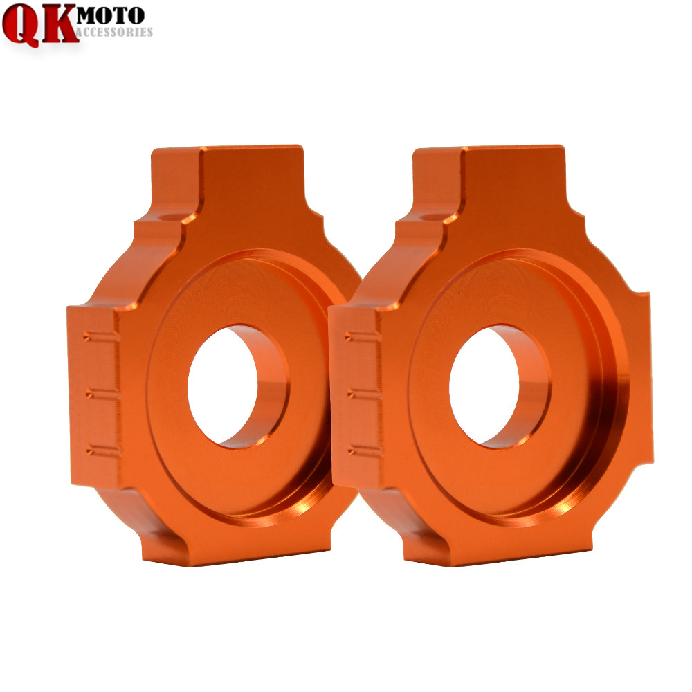 Chain Adjuster CNC Rear Axle Spindle Chain Adjuster Blocks For KTM 125/200/390 Duke RC125/200/390 Motorcycles Decoration