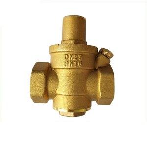 Image 2 - Dn15 dn20 dn25 bronze água pressão reduzindo manutenção válvulas regulador mayitr ajustável válvulas de alívio com medidor