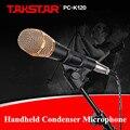 Оригинал Takstar PC-K120 Ручной Конденсаторный Микрофон Профессиональный Микрофон для Сети K Песни Записи Компьютера
