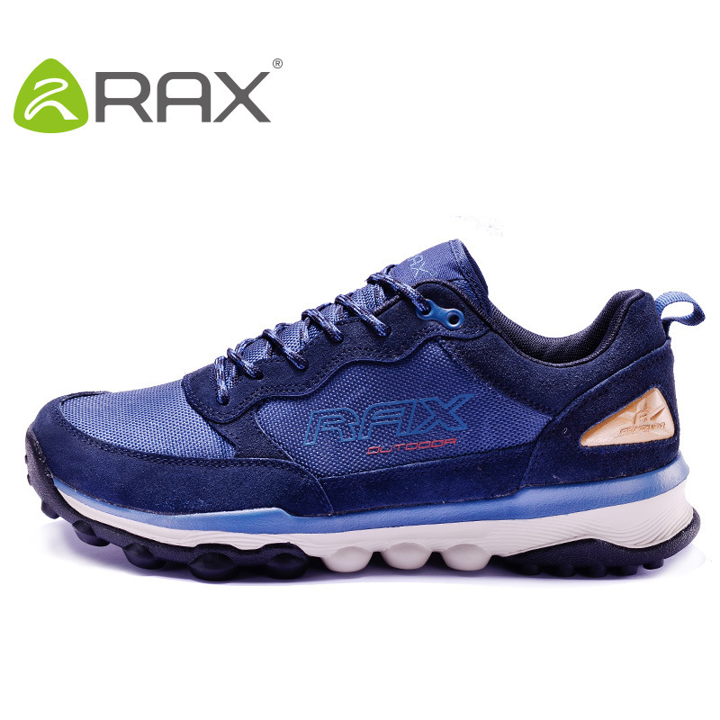цена на RAX hiking shoes men outdoor walking shoes women slip genuine leather mesh lightweight mountain hiking shoes EVA soles #B1974