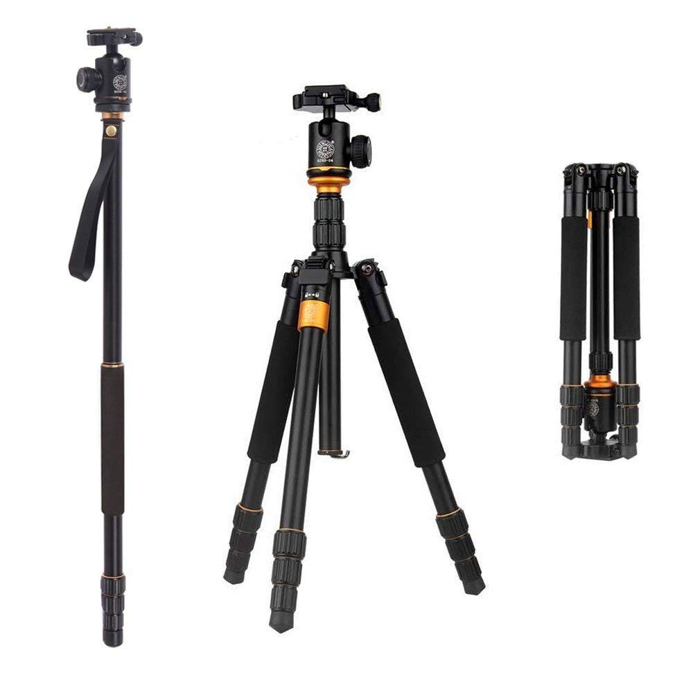 Q999S Aluminium Professional Travel Tripod Monopod with Detachable Ball Head for SLR Camera Canon Nikon Pentax Sony AF006 2015 new upgrade q999s professional photography portable aluminum ball head tripod to monopod for canon nikon sony dslr camera