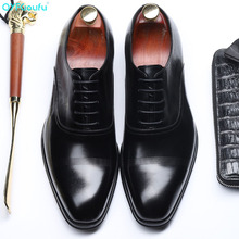 QYFCIOUFU Italian Mens Formal Genuine Leather Oxford Shoes For Men 2019 Dress Wedding Lace-up Designer