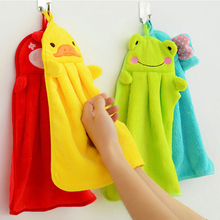 1PCS Kitchen Cleaning Rag Cute Cartoon Pattern Hand Towel Heat Resistance Home Colorful Wash Cloth